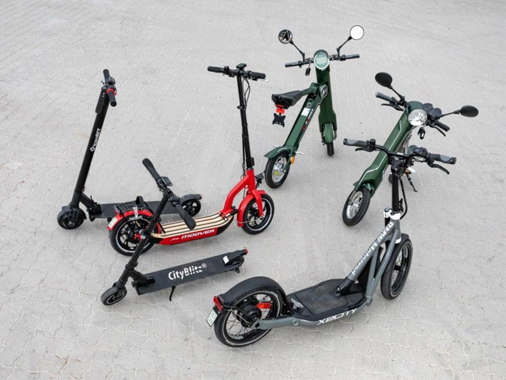 list der zugelassenen e-scooter