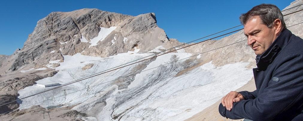 Markus Söder auf der Zugspitze