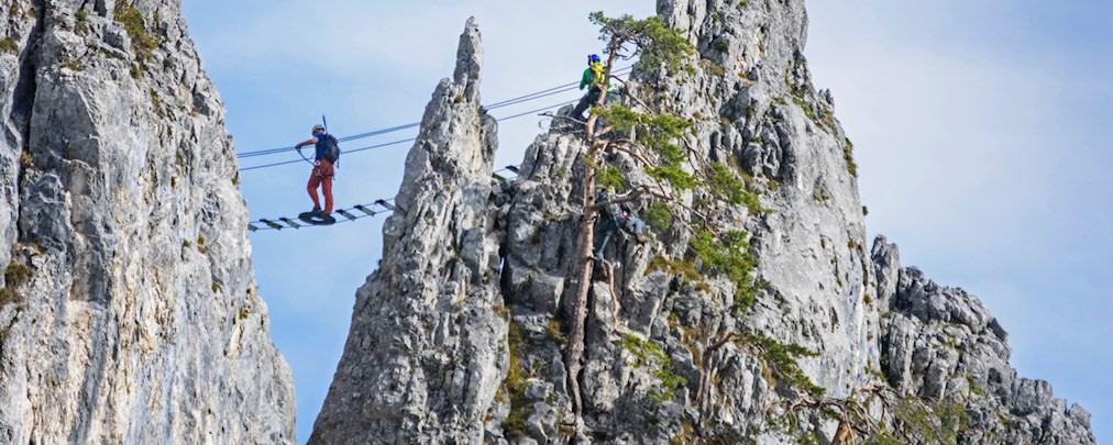 Klettersteiggehen: Ohne Angst am Drahtseil