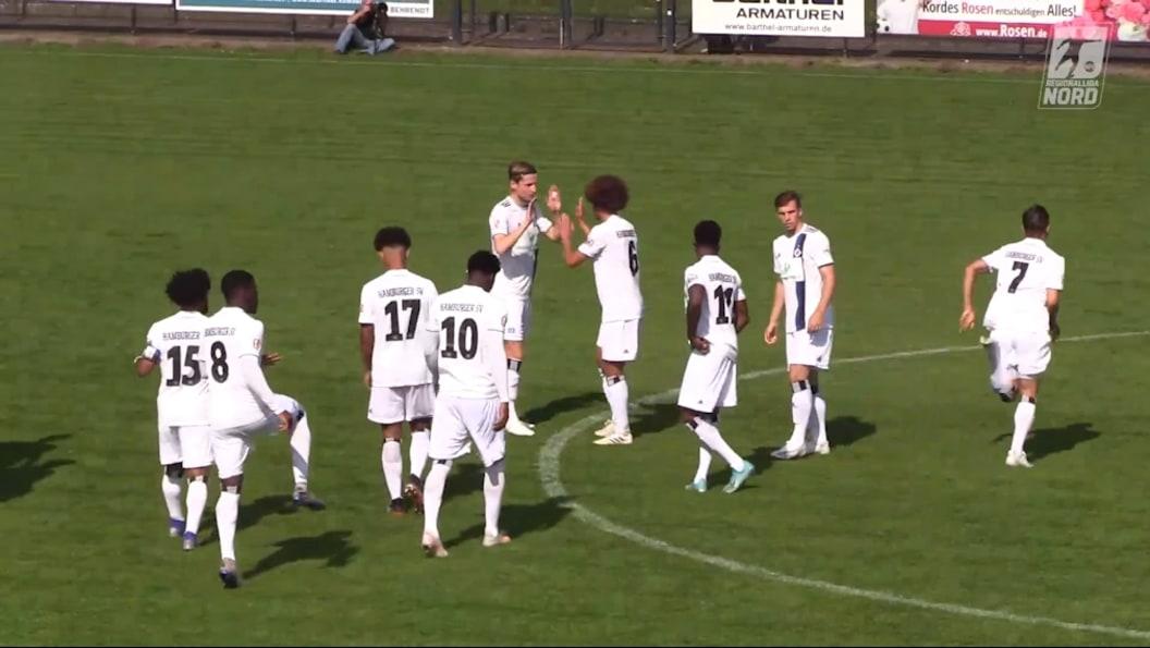 HSV II entscheidet umkämpftes Hamburger Regionalliga-Derby für sich | Regionalliga – Highlights | Video