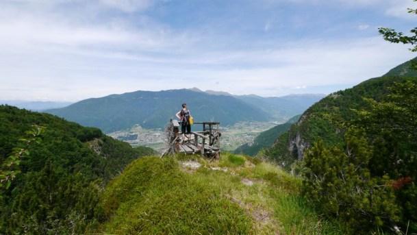 Der Aussichtspunkt Baita del Cangi