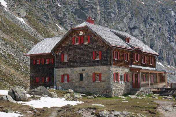 Das Arthur-von-Schmid-Haus in der Ankogel-Gruppe
