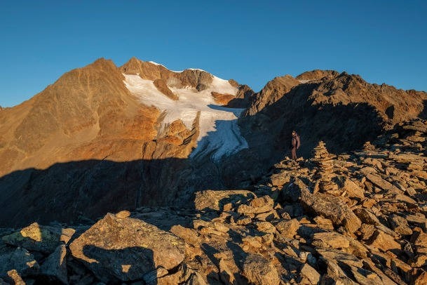 Die Wildspitze vom Wilden Mannle aus gesehen.