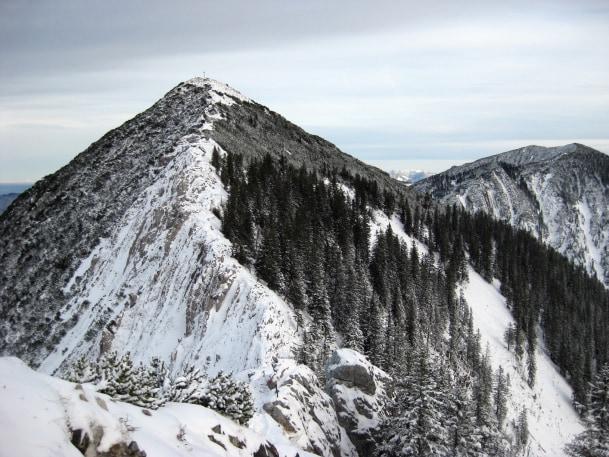 Der Gipfel der Brecherspitze von Westen