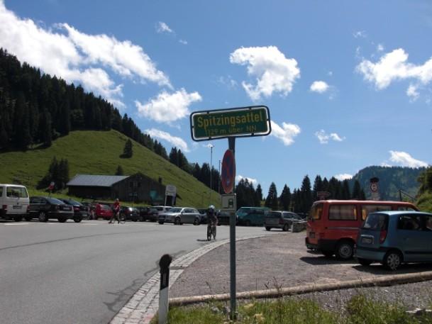 Spitzingsattel Passhöhe, von Norden kommend fotografiert