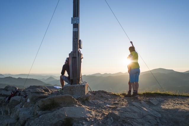 Gipfelkreuz am Riedberger Horn