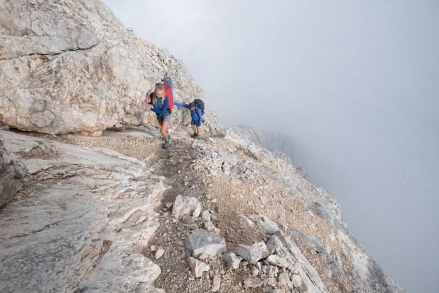 Im Aufstieg kurz vor dem Pelmo-Gipfel
