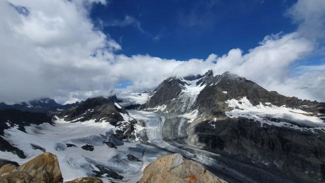 Beste Sicht auf den Grand Combin vom Gipfel des Mont Avril