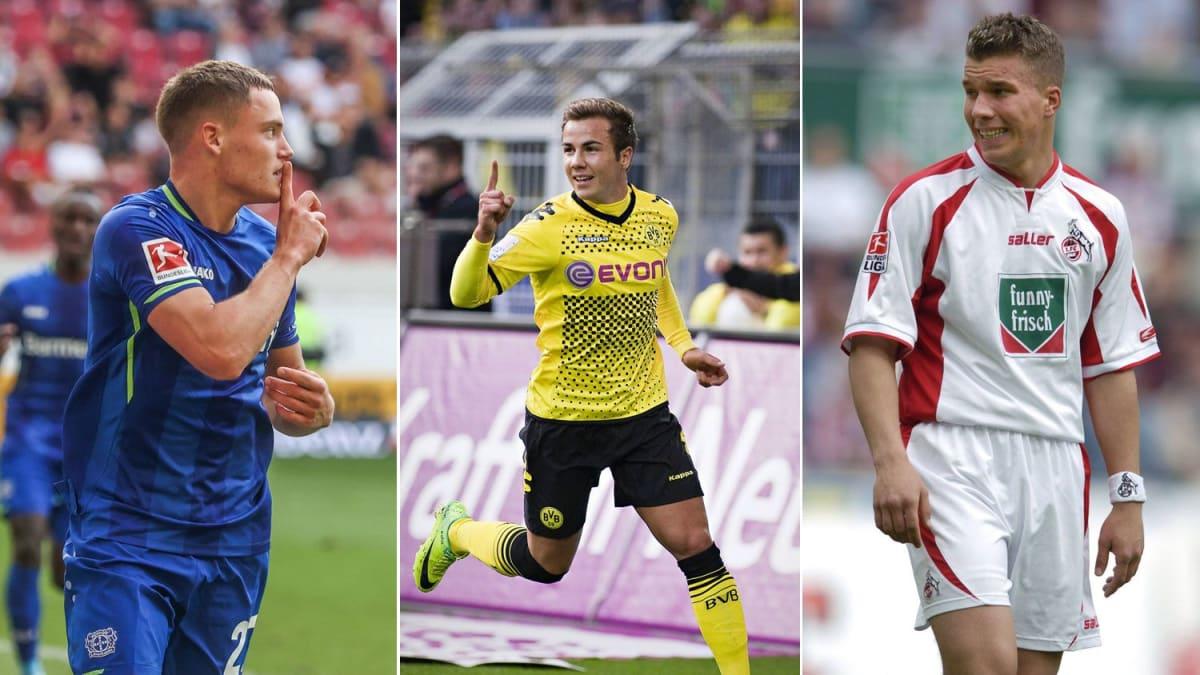 Wirtz vor Rekord: Jüngste Bundesliga-Spieler mit zehn Toren
