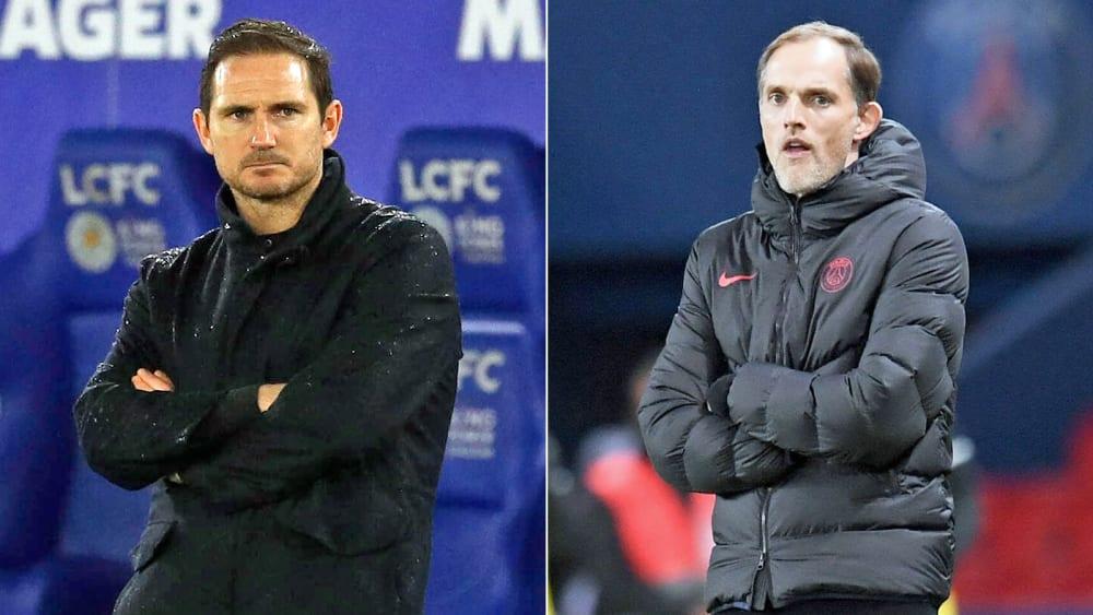 Chelseas Vergangenheit - und Zukunft? Frank Lampard und Thomas Tuchel.