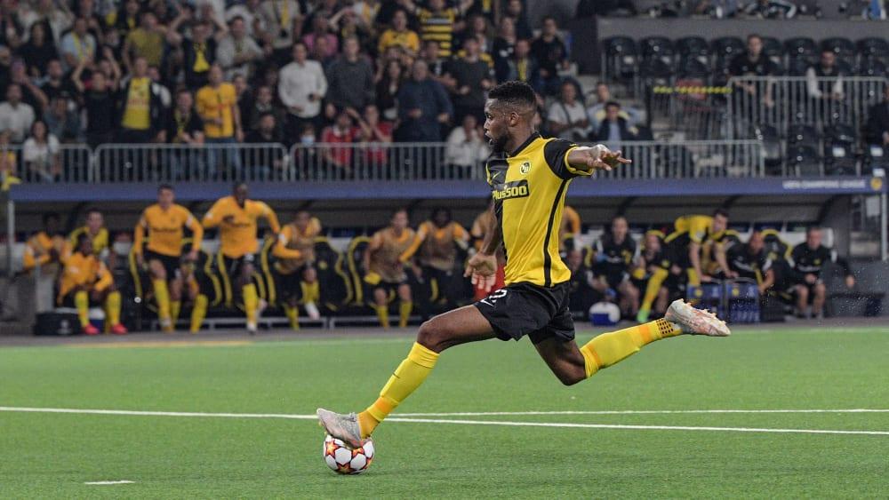 Schuss ins Glück:Jordan Siebatcheu erzielt in der letzten Aktion des Spiels den Siegtreffer für die Young Boys.