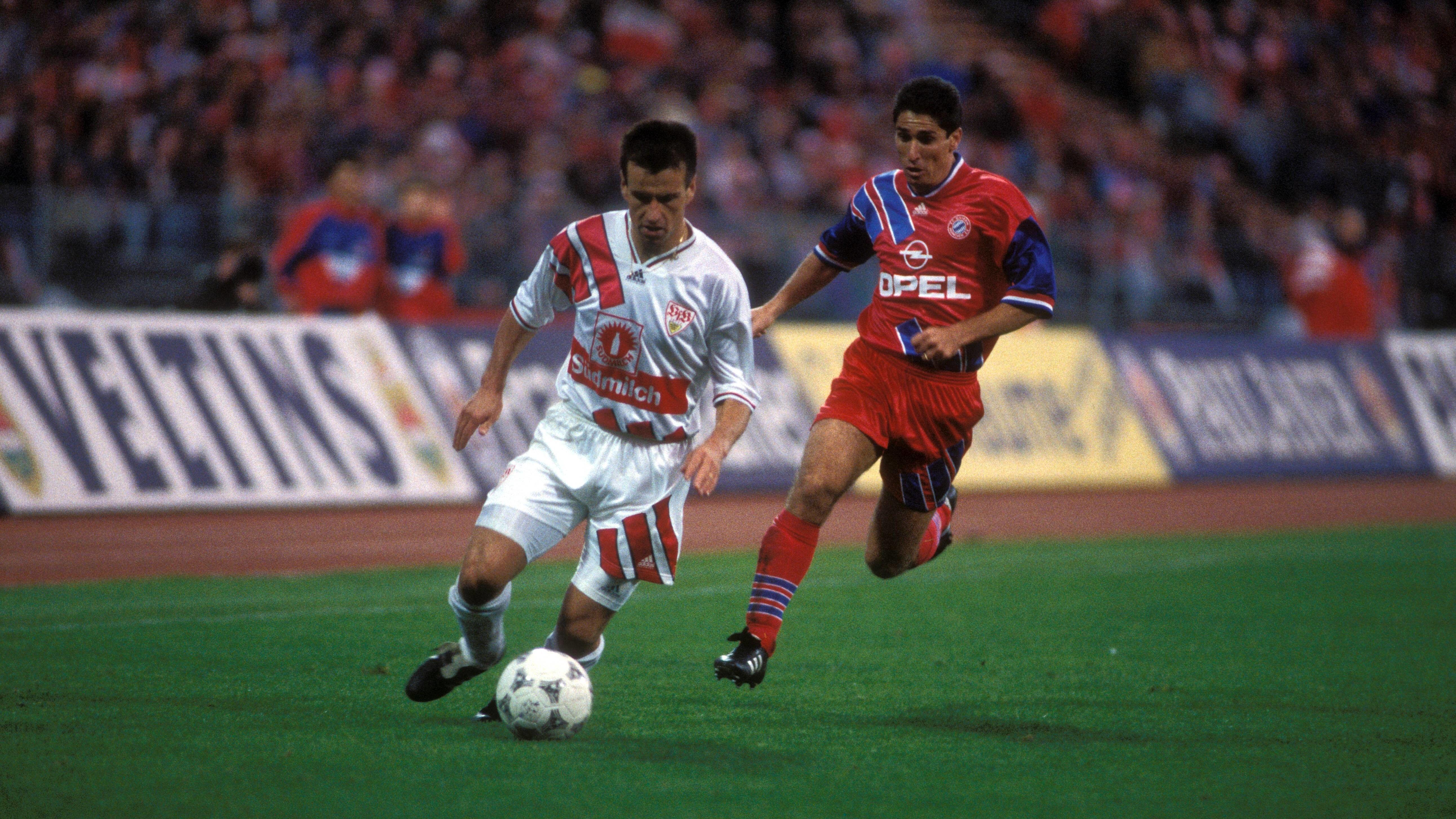 Brasilianische Weltklasse in der Bundesliga: Carlos Dunga (li. am Ball) daneben Jorginho