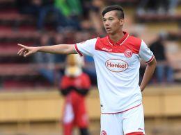 Erzielte das 3:0 beim Landesligisten SV Sonsbeck: Shinta Appelkamp.