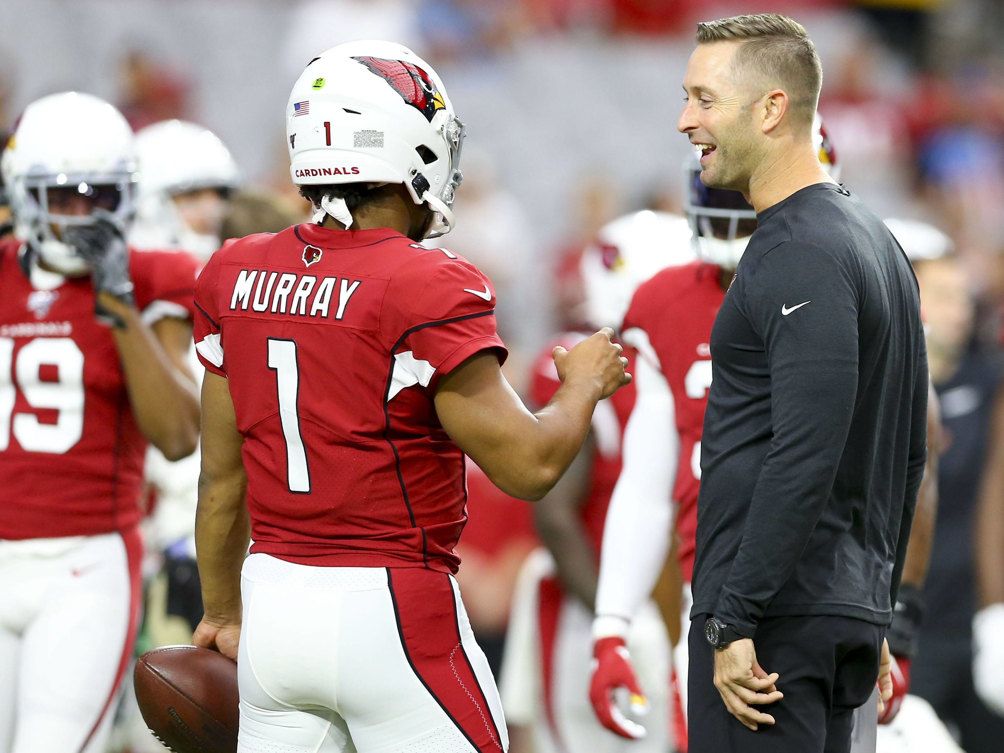 Kyler Murray (links) und Kliff Kingsbury