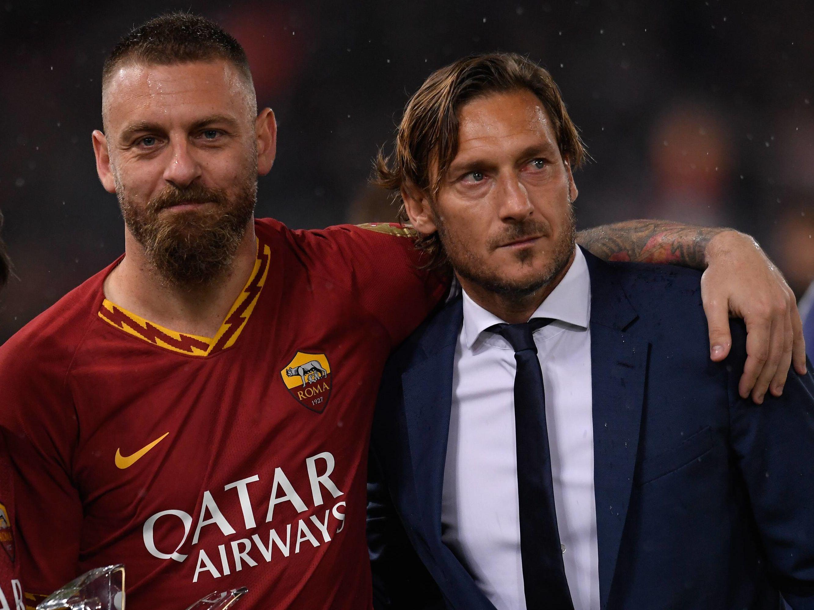 Daniele de Rossi (links) und Francesco Totti