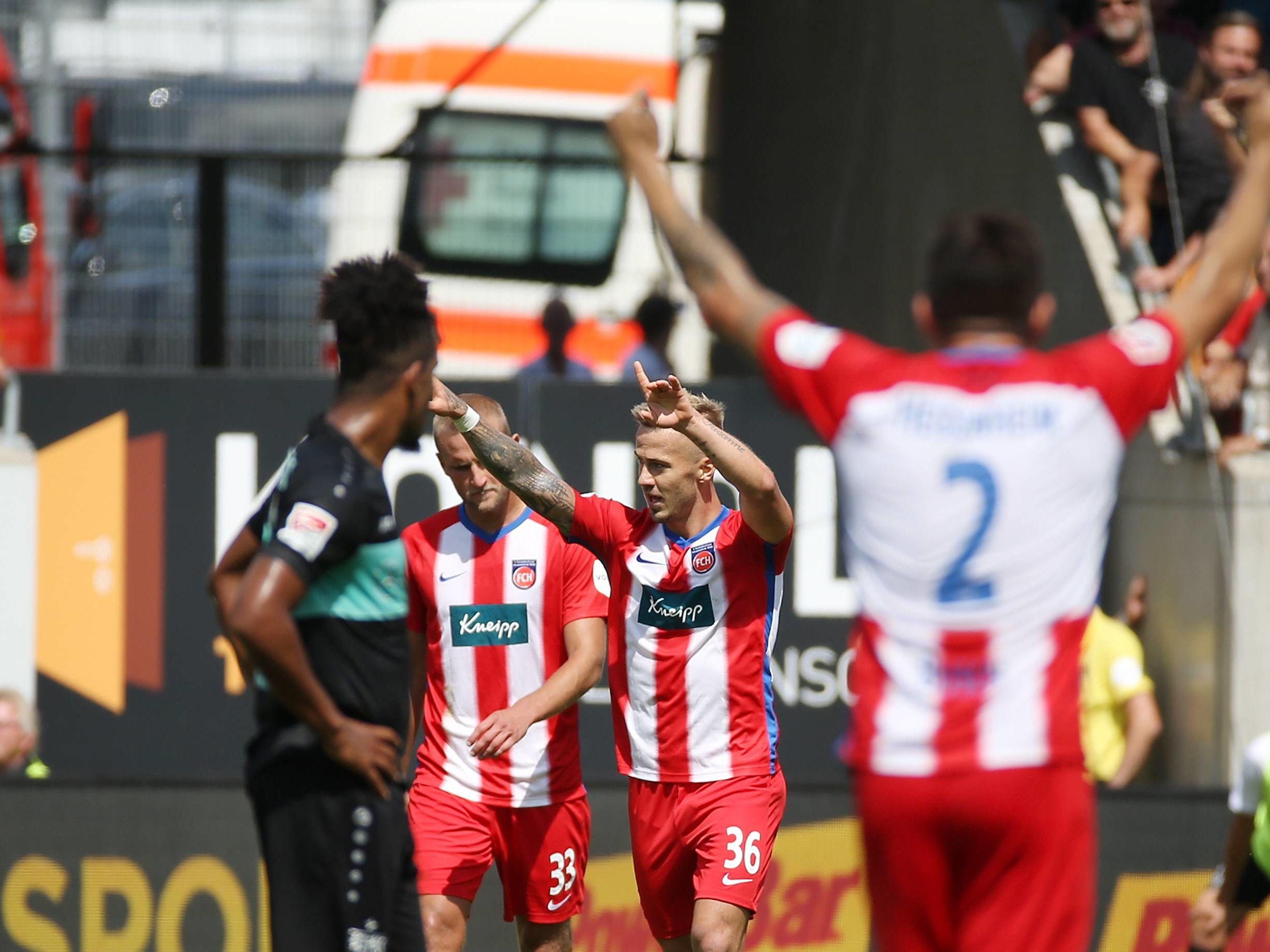 Heidenheimer Jubel gegen den VfB
