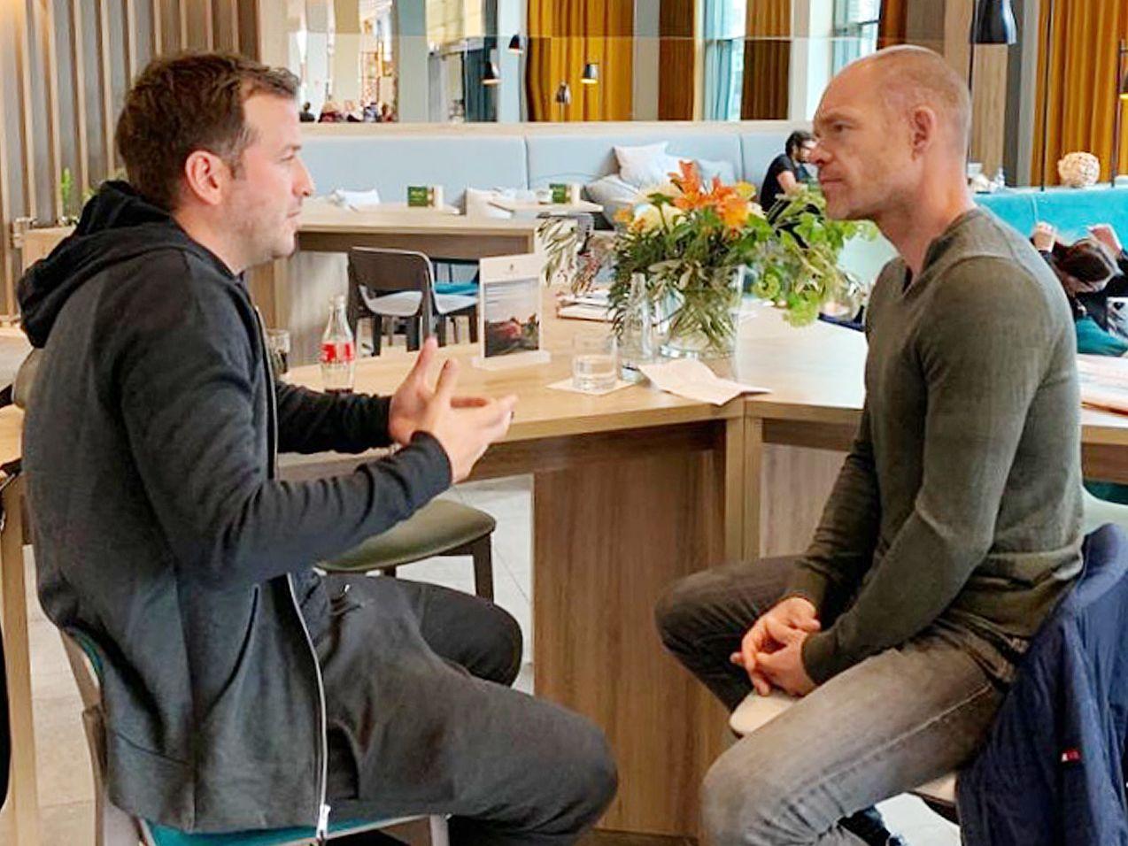 Rafael van der Vaart im Gespräch mit kicker-Redakteur Sebastian Wolff.