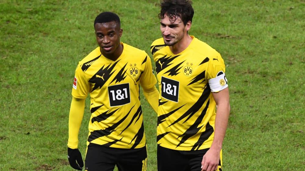 Beide eine Option für Frankfurt: Die Dortmunder Youssoufa Moukoko und Mats Hummels.