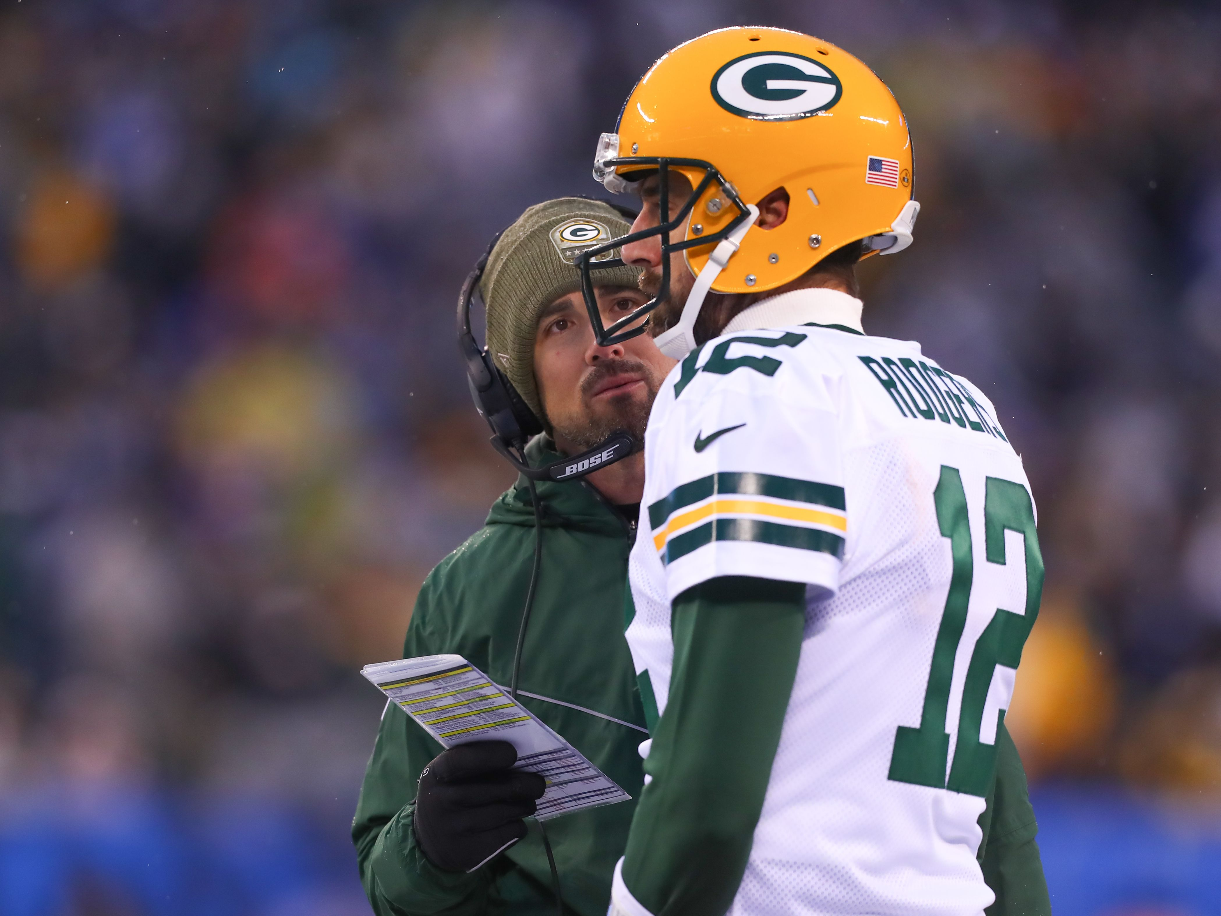 Matt LaFleur und Aaron Rodgers sind Teil der Green Bay Packers.