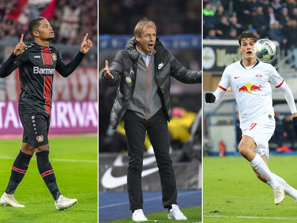 Im Fokus: Leon Bailey, Jürgen Klinsmann und Patrik Schick (v.l.).