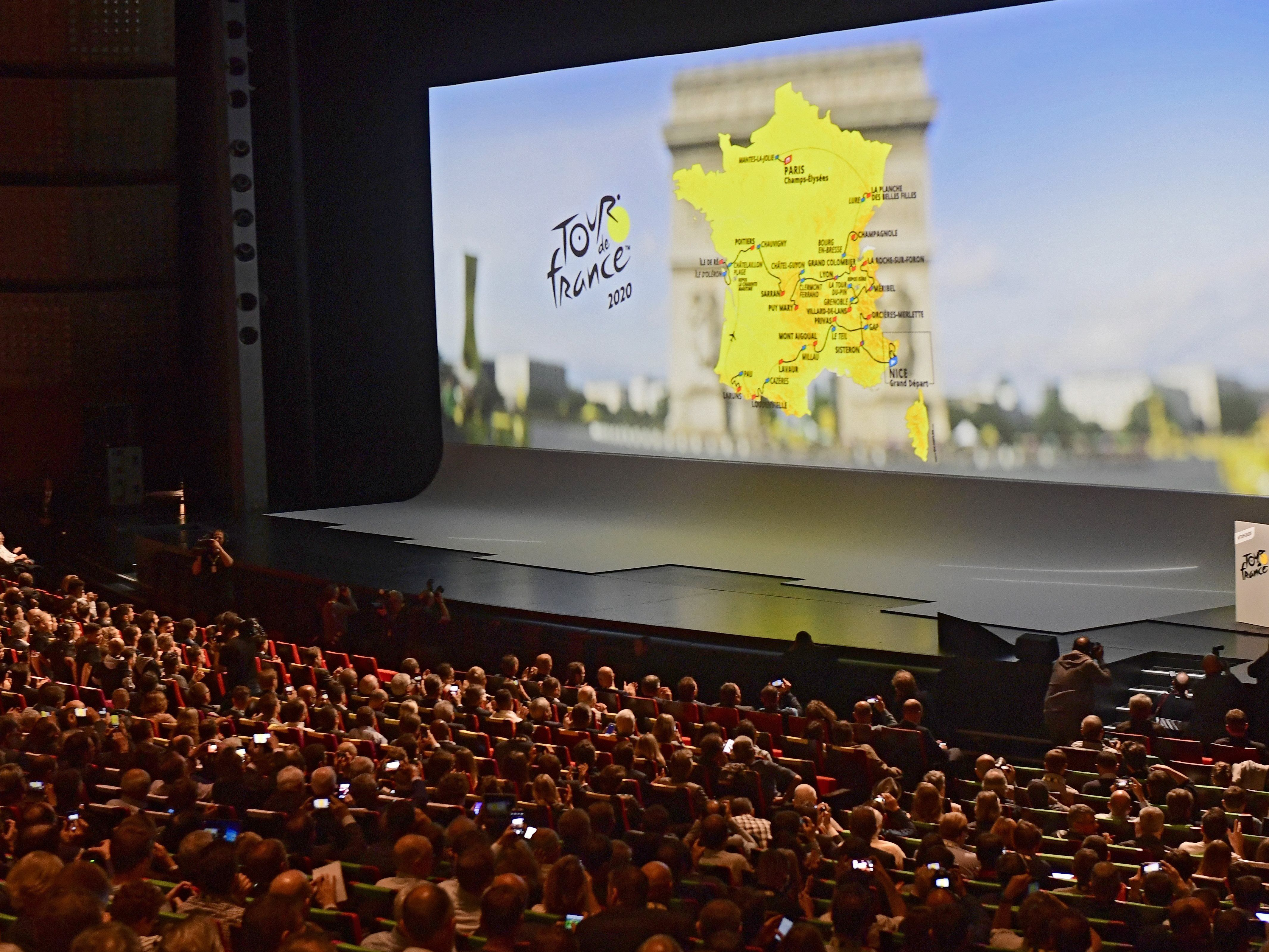 Großes Kino: Die Vorstellung der 21 Etappen der Tour de France