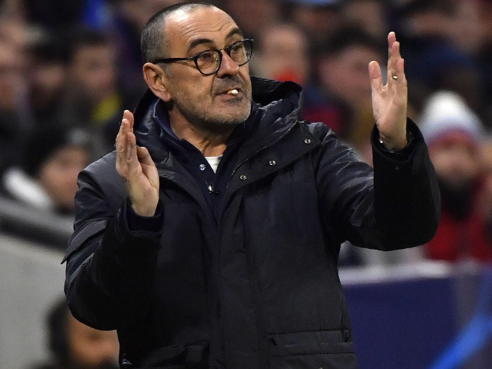 Maurizio Sarri ist Trainer von Juventus.