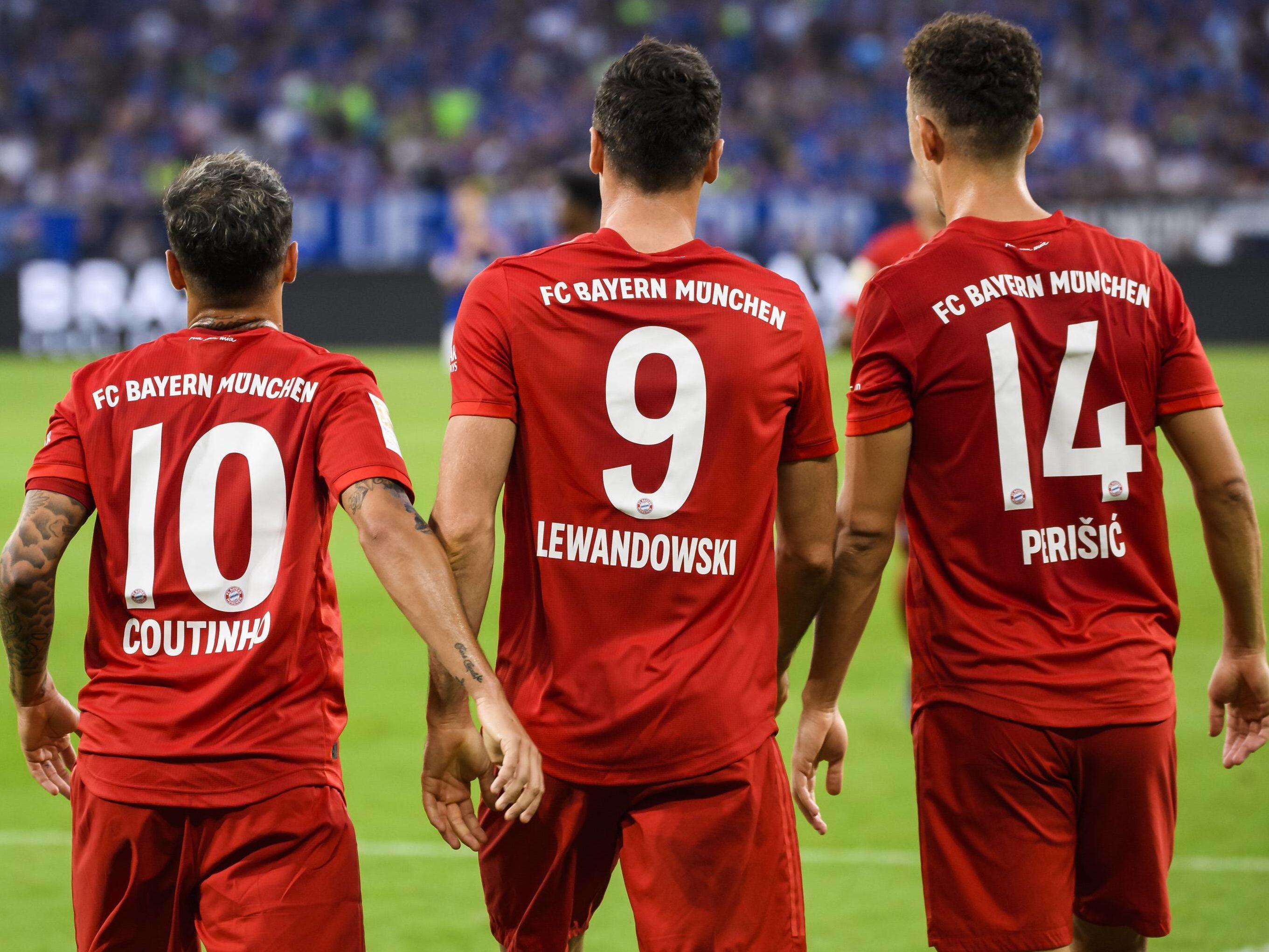 Philippe Coutinho, Robert Lewandowski und Ivan Perisic