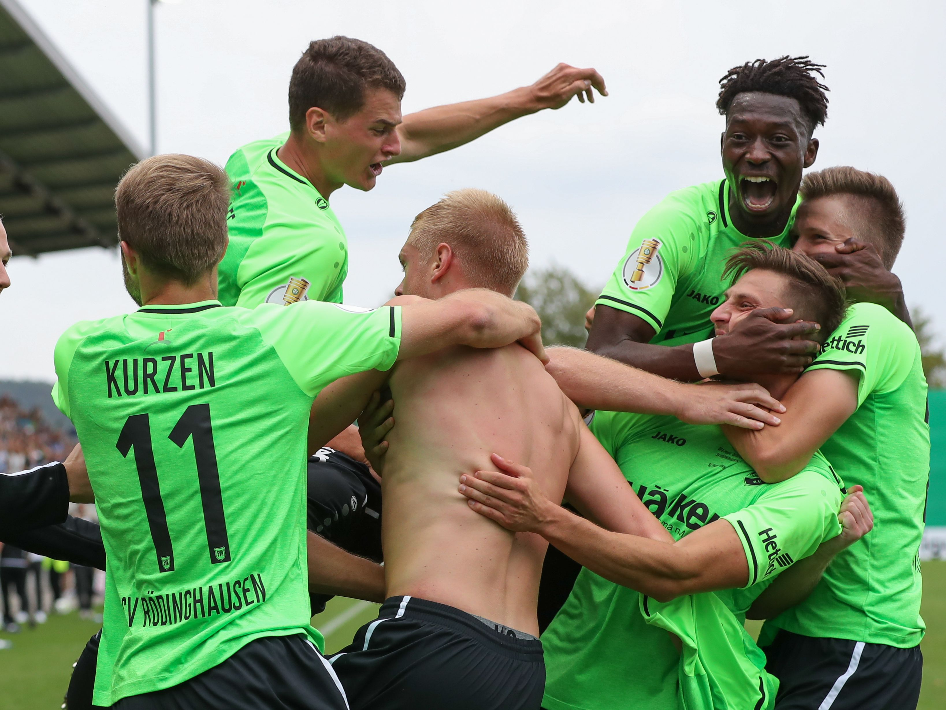 SV Rödinghausen bejubelt das 3:3