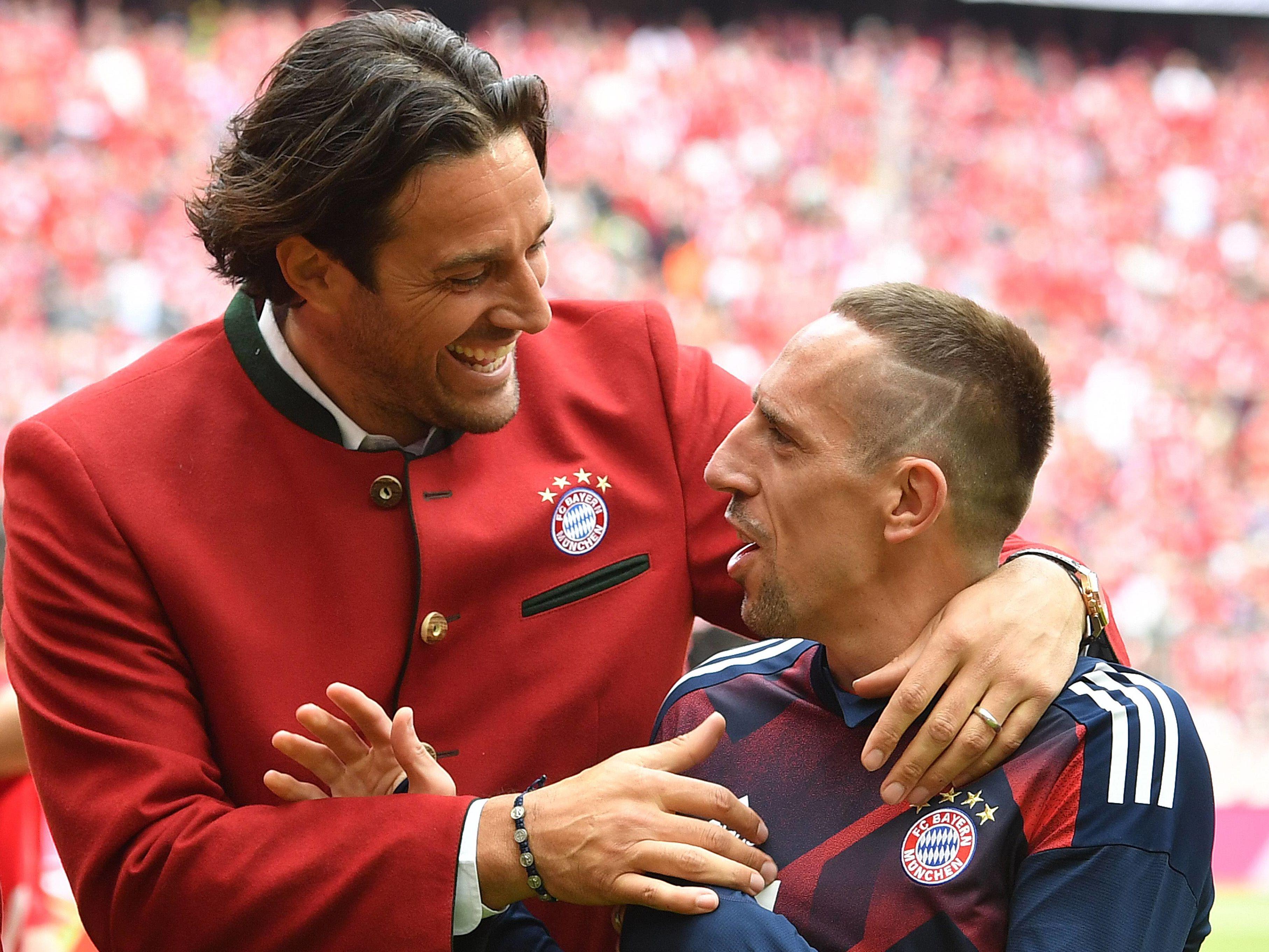 Luca Toni (links) und Franck Ribery
