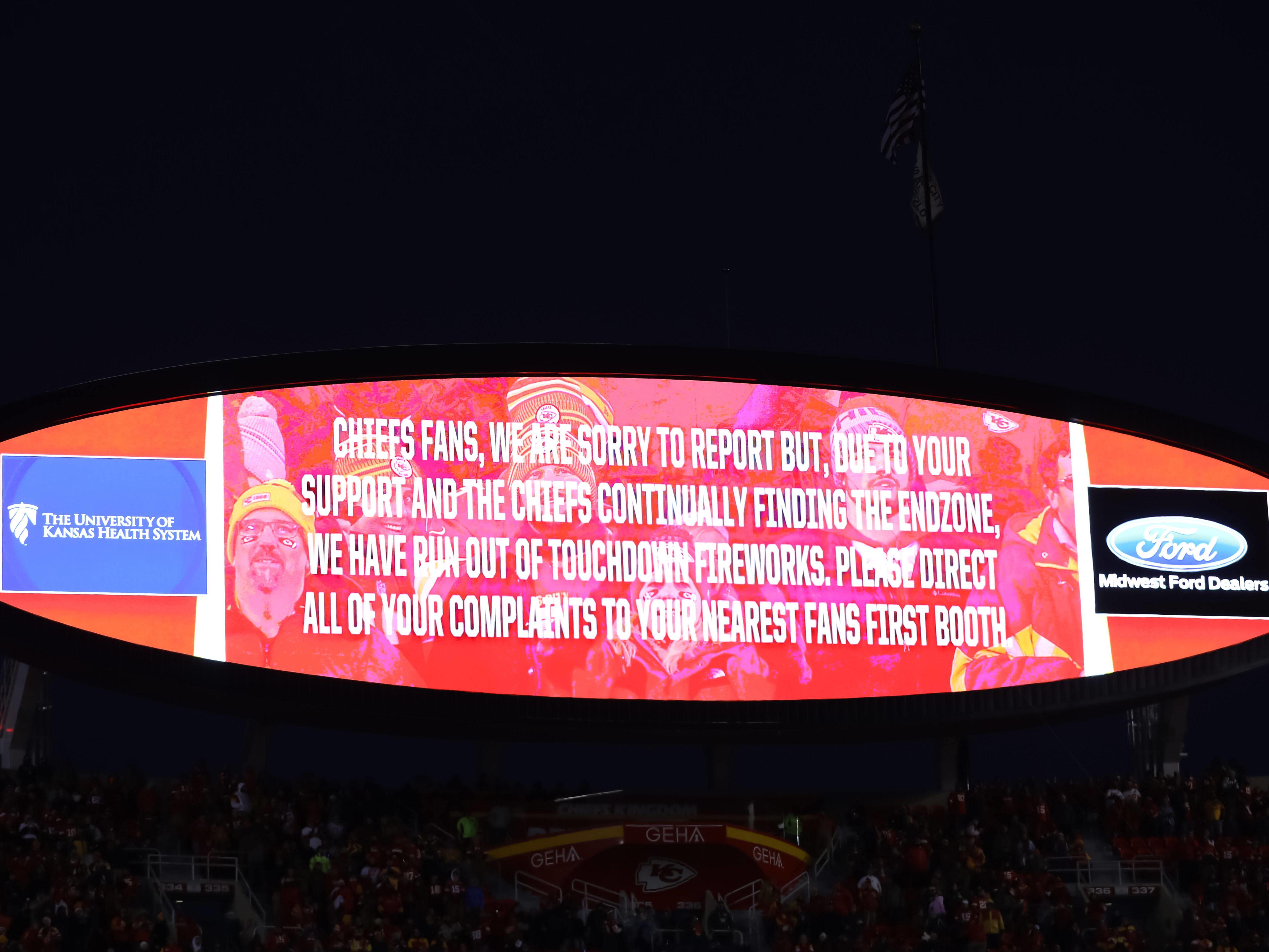 Die Kansas City Chiefs teilen ihren Fans etwas mit.