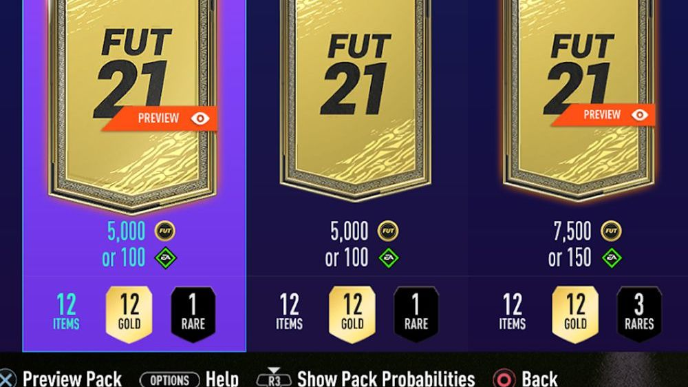 Vorschau-Packs bleiben in FIFA 21 erhalten