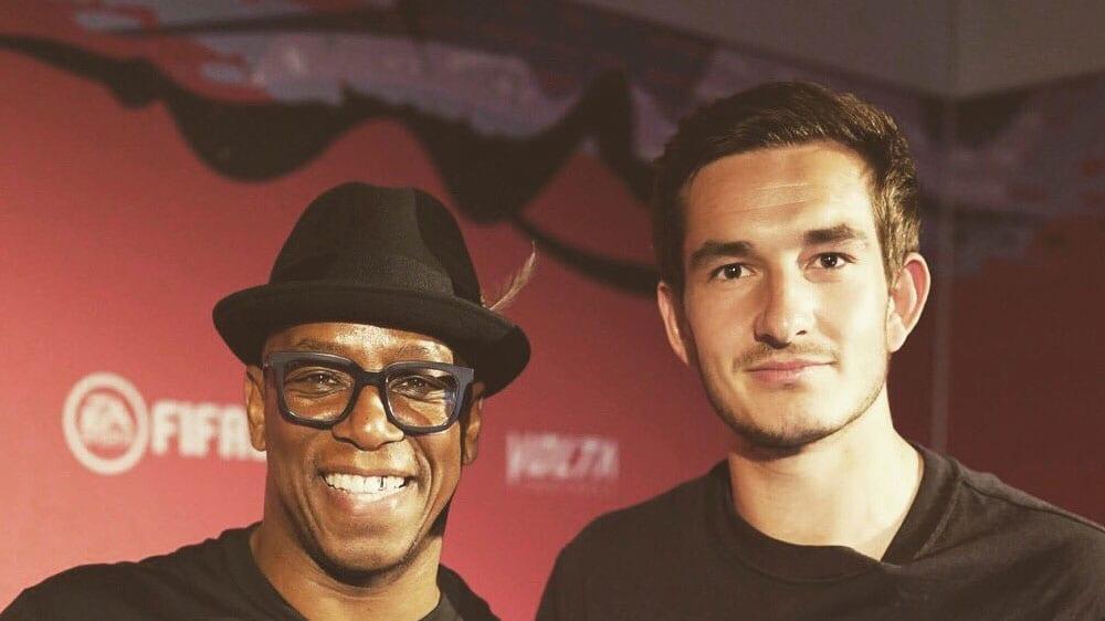 'Agge' mit Ian Wright auf der FIFA 20 Release Party - im September war er noch zuversichtlich.