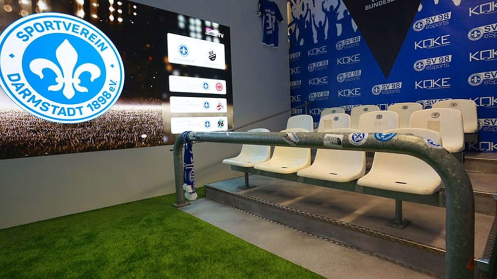 Die eSport-Arena vom SV Darmstadt 98 ist derzeit noch beispiellos.