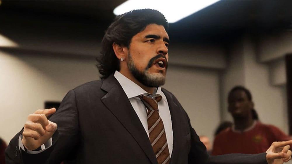 Maradona als Trainer auf Schalke. Das geht im neuen PES-Karrieremodus. Wie gut ist die
