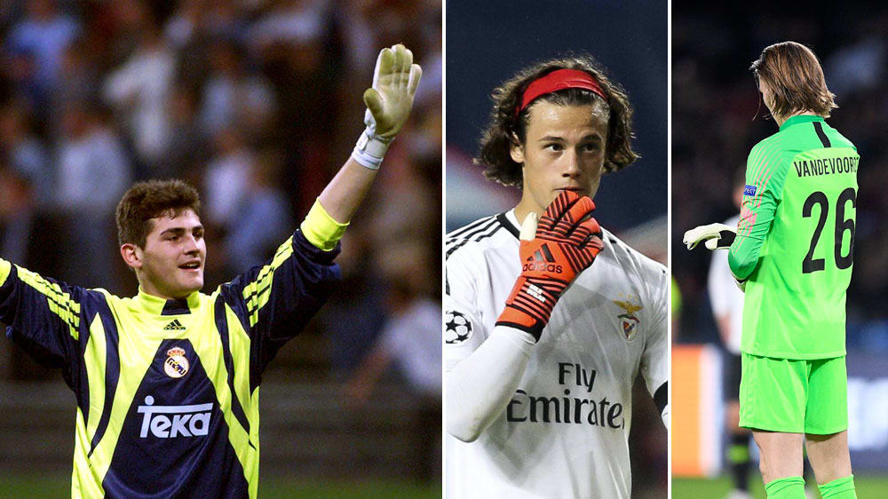 Iker Casillas, Mile Svilar und Maarten Vandevoordt (v.l.)