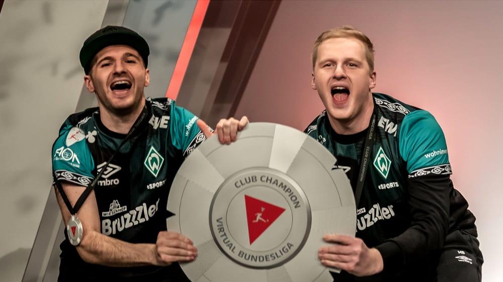 'Dr. Erhano' (l.) und 'MegaBit' (r.) holen den Titel in der VBL Club Championship.