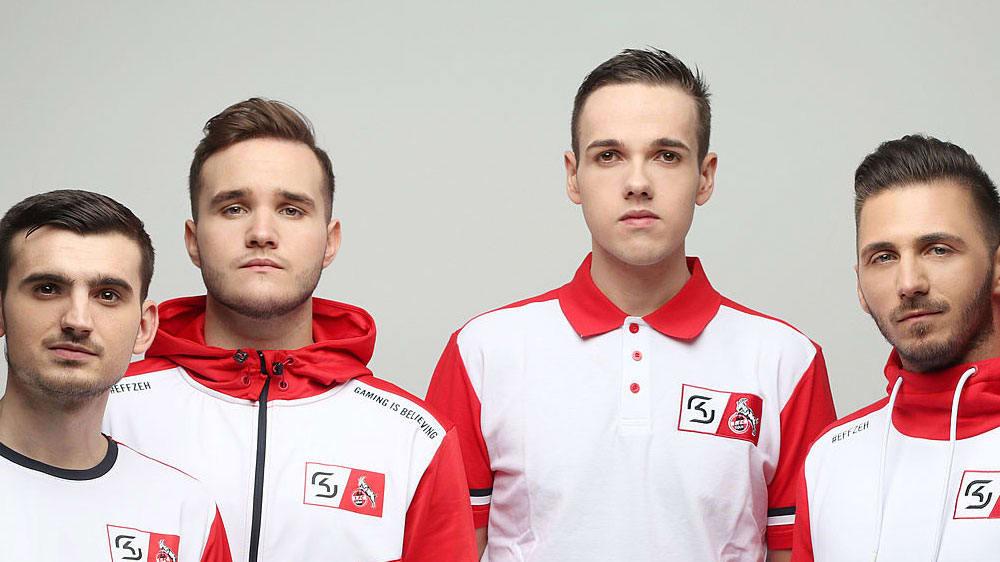 Starke Namen für Köln: Kann der FC mit 'Phenomeno' (v.l.) und 'TheStrxngeR' die VBL Club Championship holen