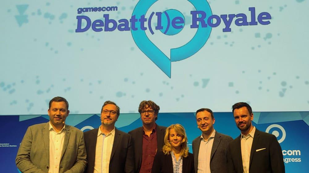 DebattleRoyale2019: Fünf Spitzenpolitiker diskutierten beim Debatt(l)e Royale über eSport und Gaming.