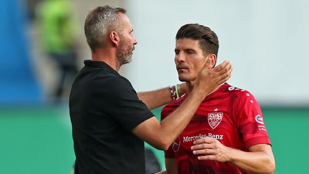 Magenverstimmung: VfB-Coach Tim Walter muss eventuell auf Mario Gomez verzichten.