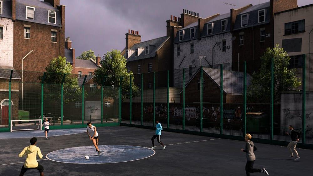 Auf den Straßen Londons wird man ebenfalls in VOLTA spielen können.
