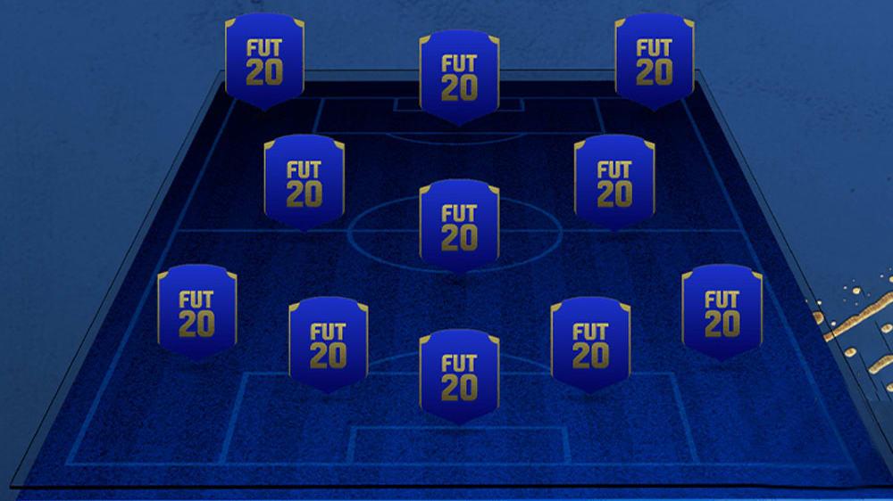 Leere FIFA-Formation