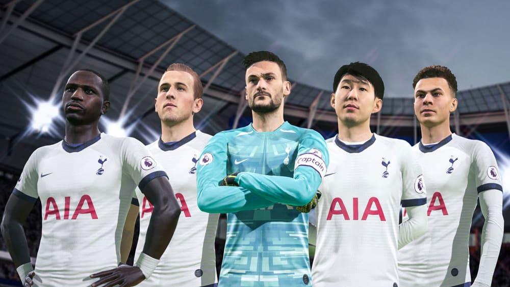 FIFA 20: Screenshots zeigen Gameplay und Spieler. Hier sieht man Tottenham Hotspurs.