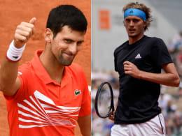 LIVE! Jetzt Zverev vs. Djokovic - 17-Jährige schockt Halep