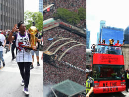 Partystimmung in Toronto: Die Raptors-Parade in Bildern
