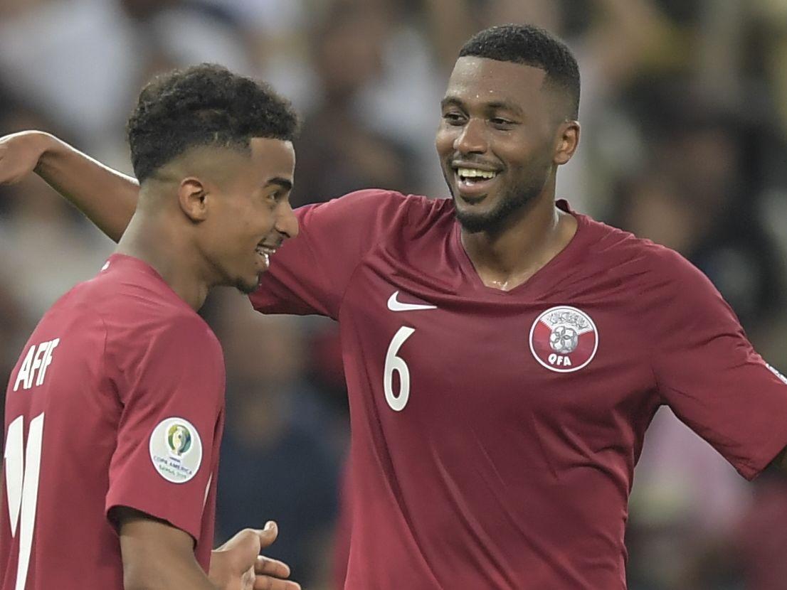 Auch Gastmannschaft Katar, die sich mit einem verdienten Punkt belohnte, hatte im Maracana etwas zu lachen.