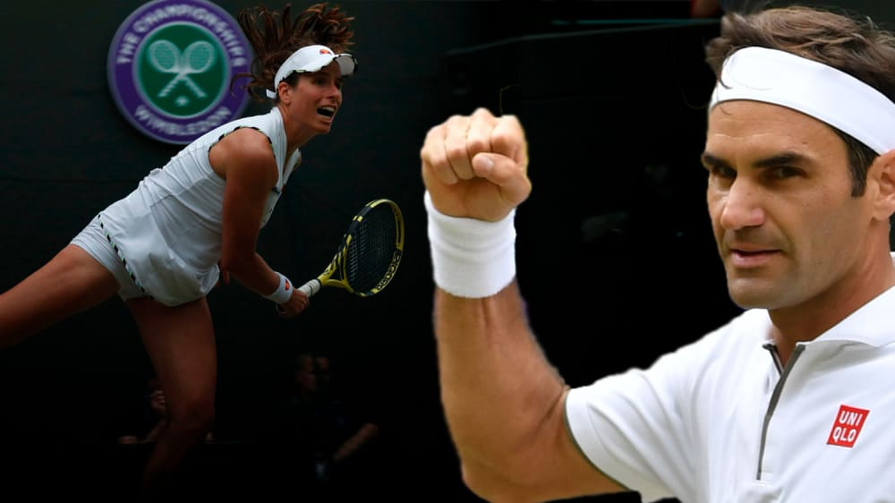 Johanna Konta und Roger Federer