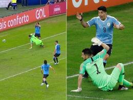 Suarez fordert Elfmeter - für ein Handspiel des Torwarts