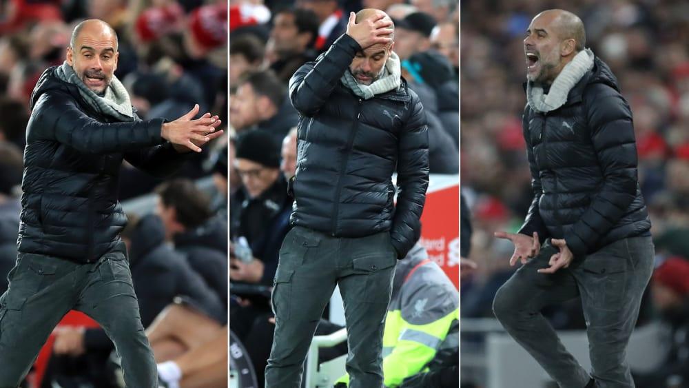 Schwärmen nach dem nächsten Rückschlag: Pep Guardiola in Anfield.