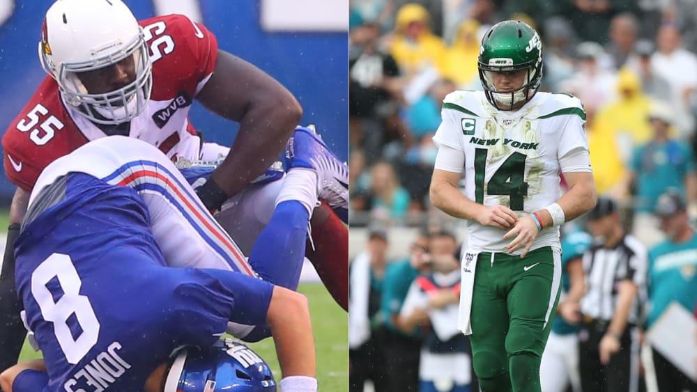 """Battle of New York"" wird zu Not gegen Elend - Jets und Giants enttäuschten bislang - mal wieder"
