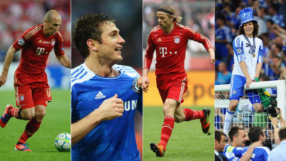 Arjen Robben, Frank Lampard, Anatoliy Tymoshchuk, David Luiz